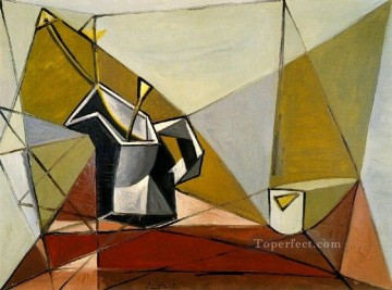 Famous Abstract Painting - Pichet de fleurs sur une table 1942 Cubist
