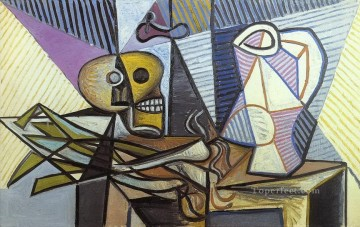 Poireaux crane et pichet 3 1945 Cubist Oil Paintings