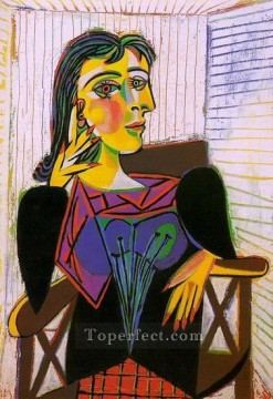 Portrait de Dora Maar 5 1937 Cubist Oil Paintings