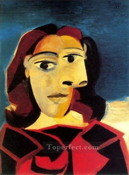 Portrait de Dora Maar 6 1937 Cubist Oil Paintings