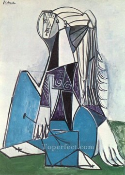 Portrait de Sylvette David 05 1954 Cubist Oil Paintings