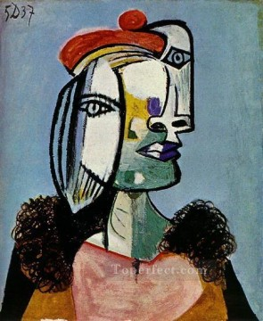 Portrait de femme 1 1937 Cubist Oil Paintings