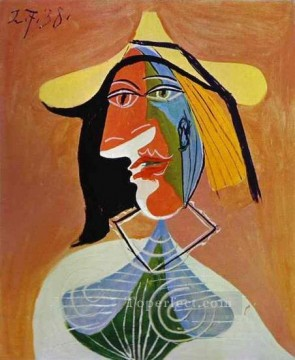 Portrait de femme 1 1938 Cubist Oil Paintings