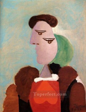 Portrait de femme 1937 Cubist Oil Paintings