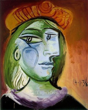 Portrait de femme 1938 Cubist Oil Paintings