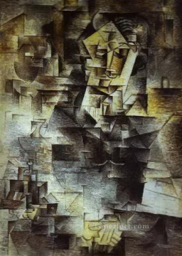 Portrait of Daniel Henry Kahnweiler 1910 Cubist Oil Paintings