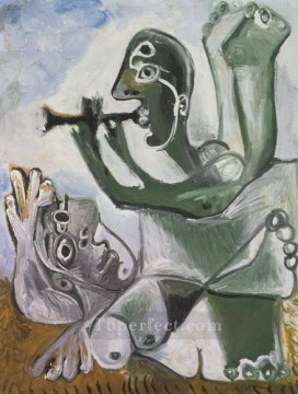 Serenade L aubade 2 1967 Cubist Oil Paintings