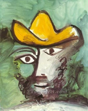 Famous Abstract Painting - Tete d homme 1971 1 Cubist