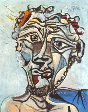 Tete d homme 2 1971 Cubist Oil Paintings