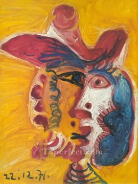 Tete d homme 93 1971 Cubist Oil Paintings