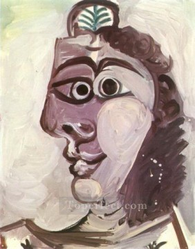 Tete de femme 2 1971 Cubist Oil Paintings