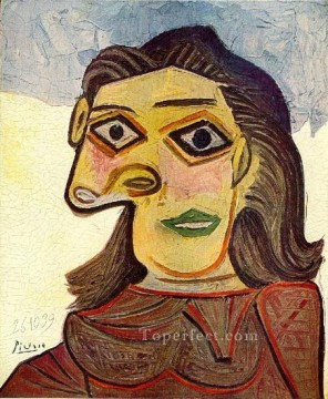 Tete de femme 4 1939 Cubist Oil Paintings