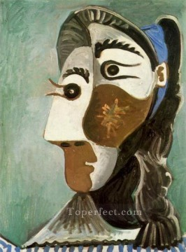 Tete de femme 6 1962 Cubist Oil Paintings