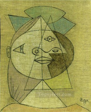 Tete de femme Marie Therese Walter 1937 Cubist Oil Paintings