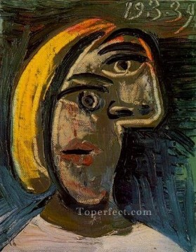 therese works - Tete de femme aux cheveux blonds Marie Therese Walter 1939 Cubist