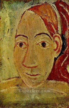Tete de femme de face 1906 Cubist Oil Paintings
