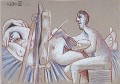 The Artist and His Model L artiste et son modele 1 1970 Cubist