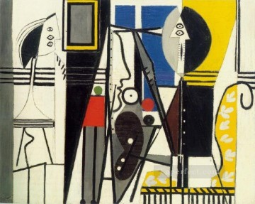 The Artist and His Model L artiste et son modele 1928 Cubist Oil Paintings