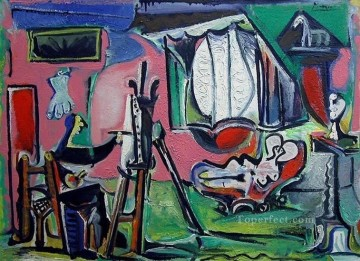 1963 Painting - The Artist and His Model L artiste et son modele I II 1963 Cubist