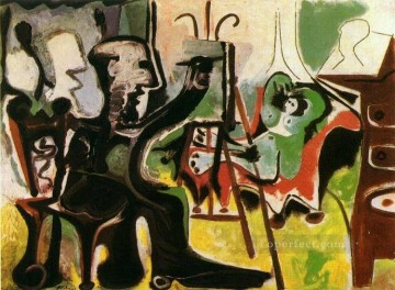 The Artist and His Model L artiste et son modele II 1963 Cubist Oil Paintings