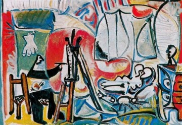 The Artist and His Model L artiste et son modele IV 1963 Cubist Oil Paintings