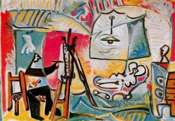The Artist and His Model L artiste et son modele V 1963 Cubist Oil Paintings