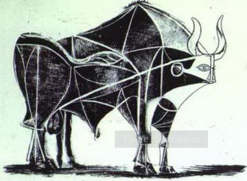 cattle bull cow Painting - The Bull State V 1945 Cubist