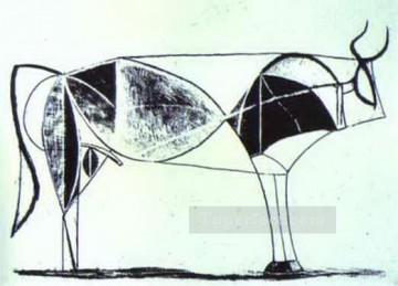 cattle bull cow Painting - The Bull State VII 1945 Cubist