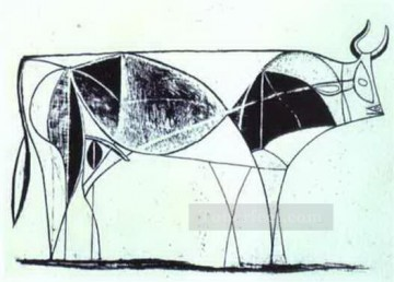 cattle bull cow Painting - The Bull State VIII 1946 Cubist