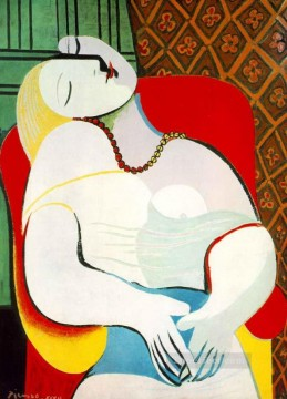 Famous Abstract Painting - The Dream Le Reve 1932 Cubist