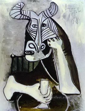 The King of the Minotaurs 1958 Cubist Oil Paintings