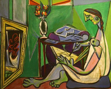 The Muse 1935 Cubist Oil Paintings