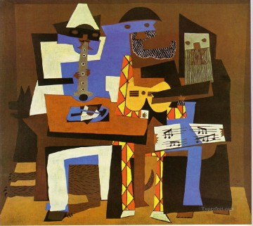 Three Musicians 2 1921 Cubist Oil Paintings