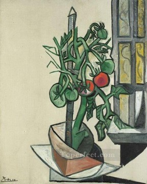 Tomatoes 1944 Cubist Oil Paintings