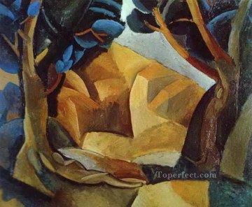 Two Naked Figures 1908 Cubist Oil Paintings