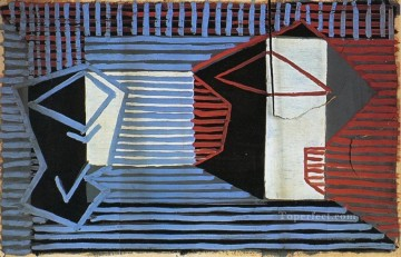 Verre et compotier 1922 Cubist Oil Paintings