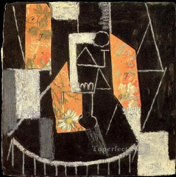 Verre sur un gueridon 1913 Cubist Oil Paintings