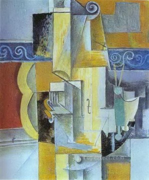 Famous Abstract Painting - Violin and Guitar 1913 Cubist