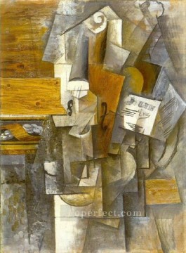 Violon Jolie Eva 1912 Cubist Oil Paintings