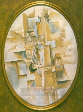 Violon pyramidal 1912 Cubist Oil Paintings