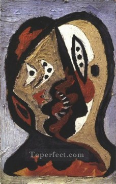Visage 2 1926 Cubist Oil Paintings