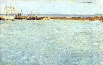 Vue de port de Valence 1895 Cubist Oil Paintings