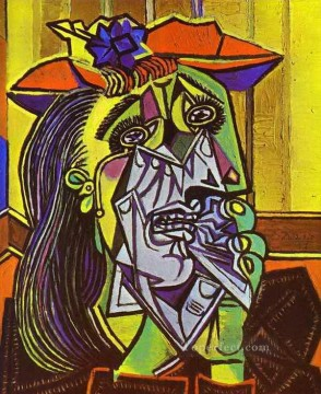 Weeping Woman 1937 Cubist Oil Paintings
