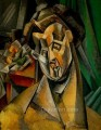 Woman with Pears 1909 Cubist