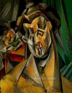 pears Oil Painting - Woman with Pears 1909 Cubist