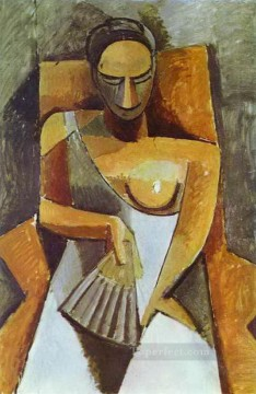 Woman with a Fan 1908 Cubist Oil Paintings