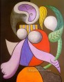Woman with a Flower 1932 Cubist