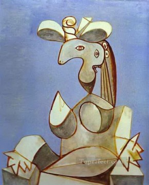 Young Tormented Girl 1939 Cubist Oil Paintings