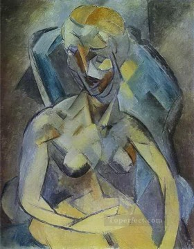 Young Woman 1909 Cubist Oil Paintings