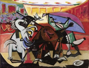 course de taureaux 1934 Cubism Oil Paintings